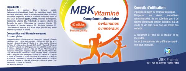 Vitamines minéraux énergie fatigue